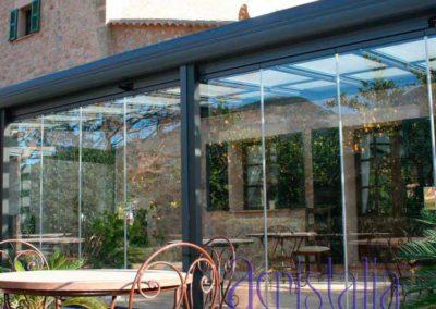 carpinteria metalica cerramiento techo movil en pamplona lamitek