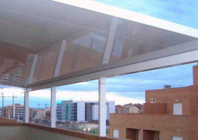 carpinteria metalica cerramientos techo fijo pamplona lamitek