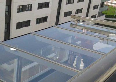 carpinteria metalica techo fijo en pamplona lamitek