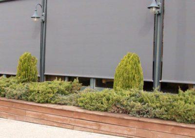 instalacion de cortinas en pamplona restaurante