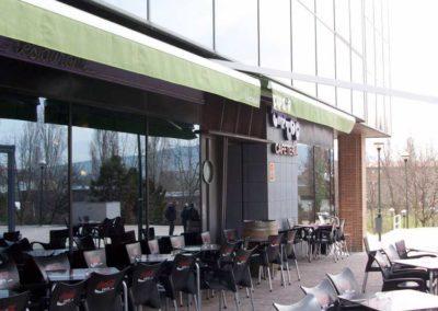 instalacion de toldo en pamplona restaurante