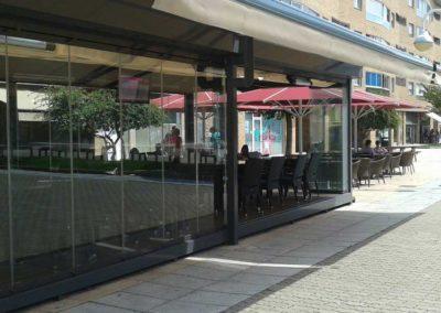 instalacion toldo parasol pamplona bar florencia