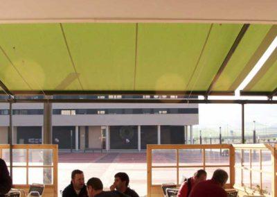 instalacion toldos en pamplona terraza bar