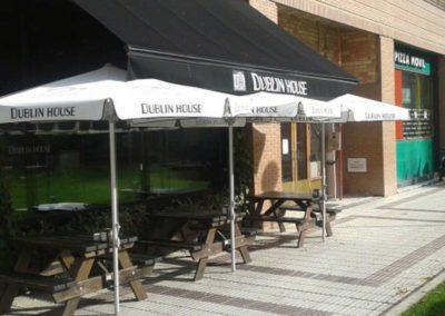 instalacion toldos pamplona terraza dublin